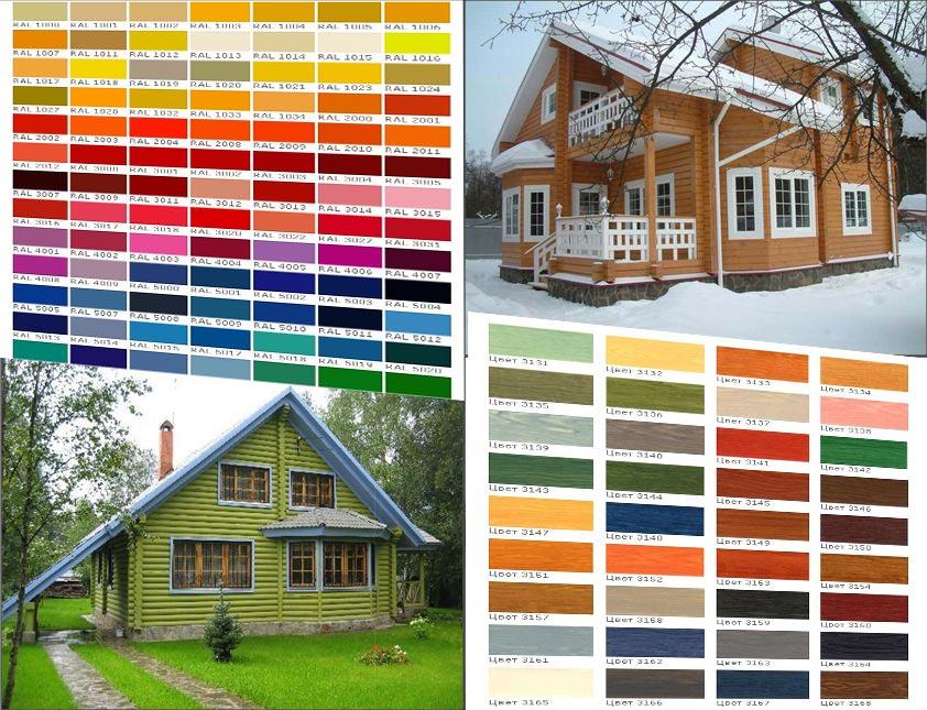 Покрасить дом из клееного бруса снаружи цена