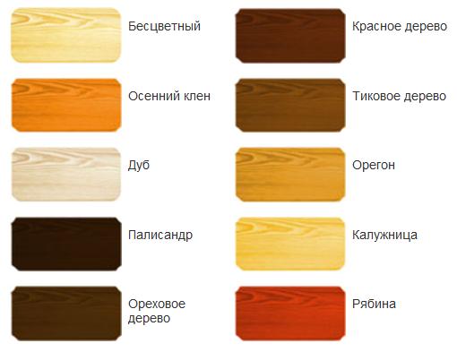 Краска пинотекс для наружных работ по дереву цвета фото цена