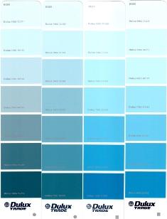Синяя цветовая гамма dulux