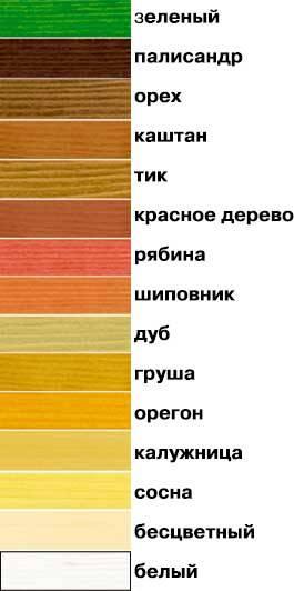 Цвета краски для дерева акватекс